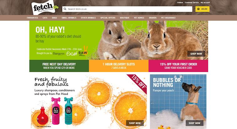 Fetch Petstore Homepage Screenshot