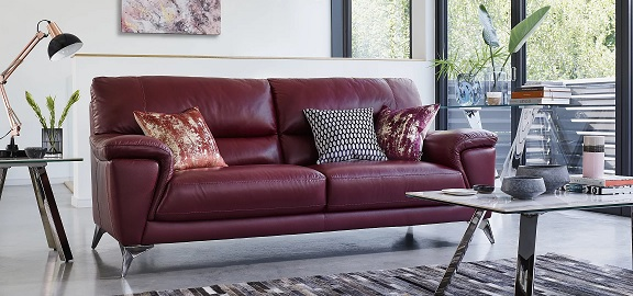 Furniture Village Leather Sofa