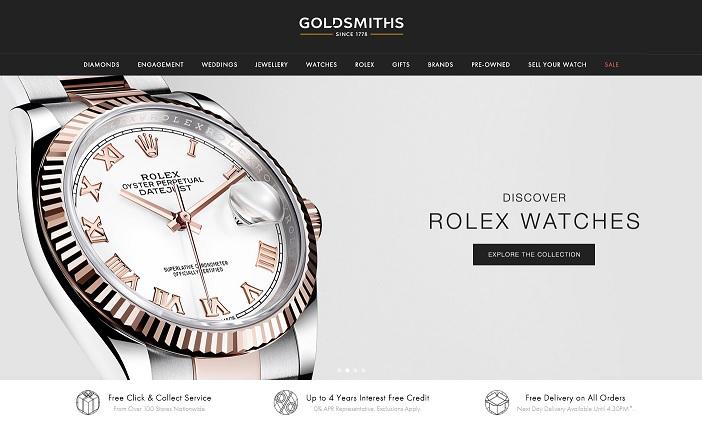Goldsmiths Homepage Screenshot