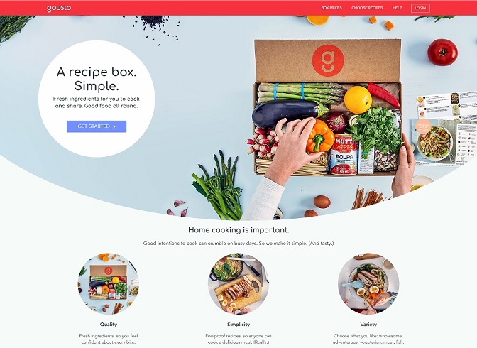 Gousto Homepage