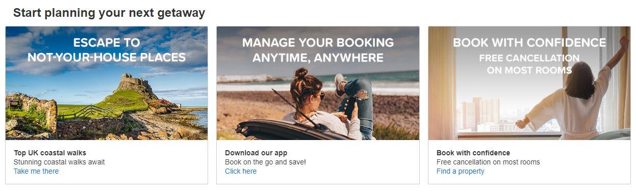 Hotels.com Homepage