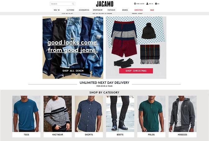 Jacamo Homepage Screenshot