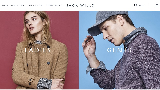 Jack Wills Homepage Screenshot