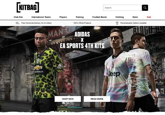 Kitbag Homepage Screenshot