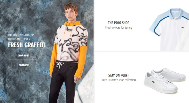 Lacoste Homepage Screenshot