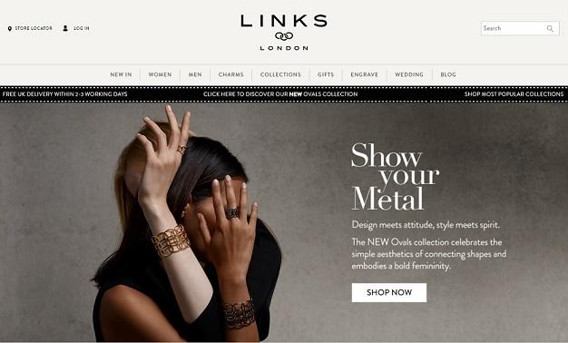Links Of London Homepage Screenshot