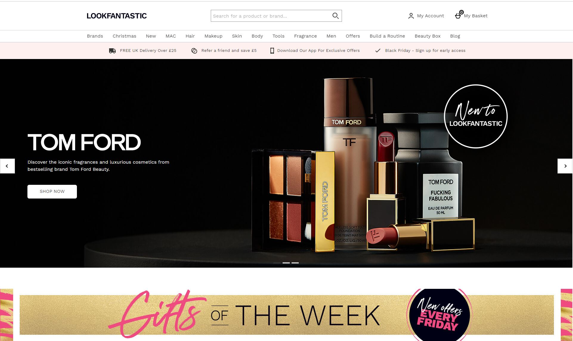 Look Fantastic Homepage