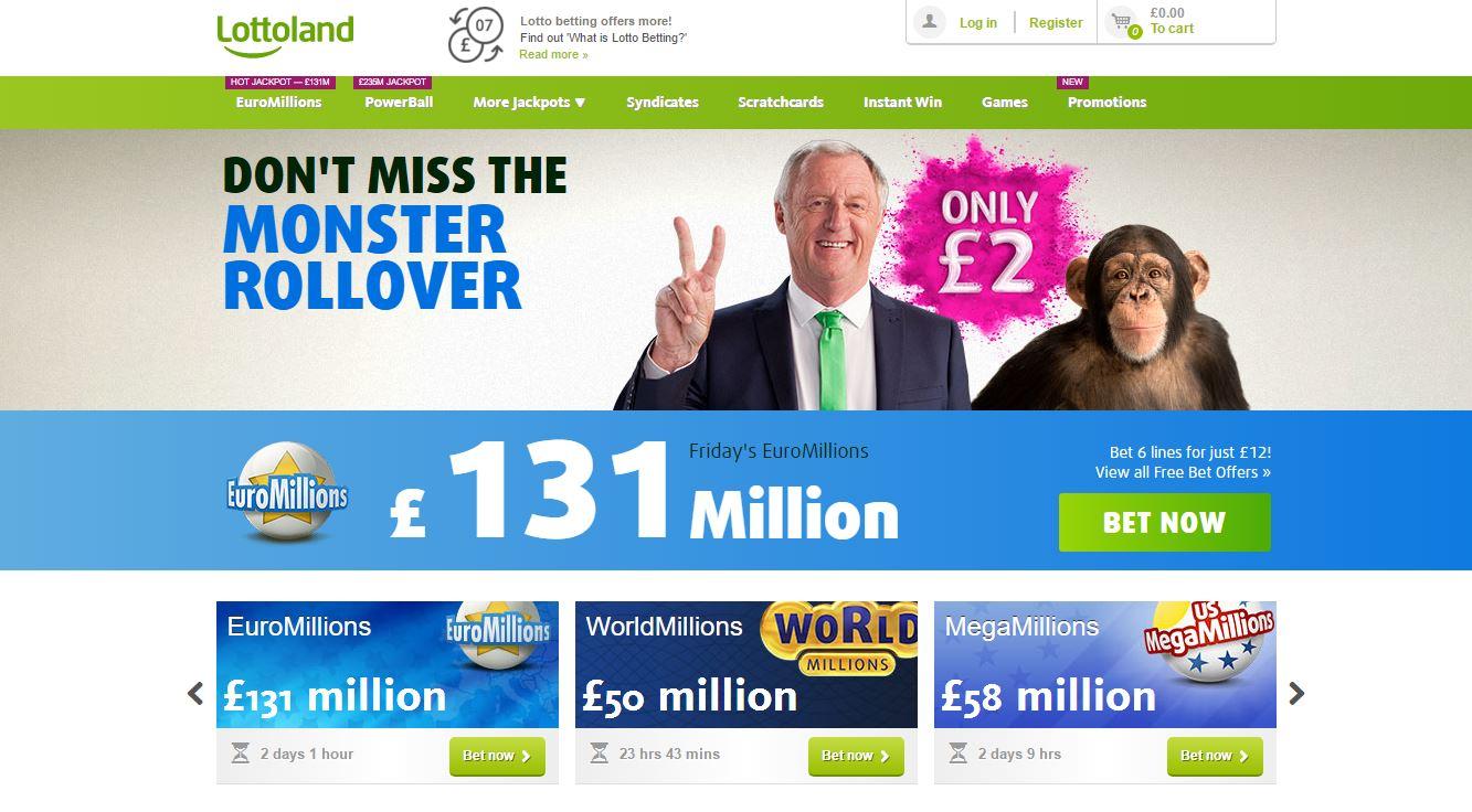 Lottoland Homepage Screenshot