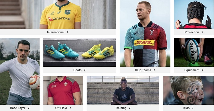Lovell Rugby Product Categories