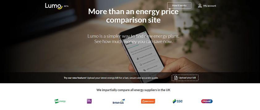 Lumo Homepage Screenshot