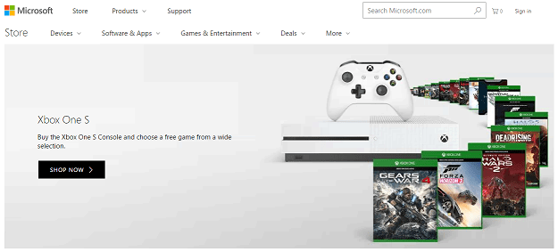Microsoft Store Homepage Screenshot