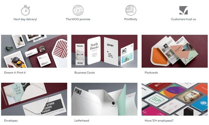MOO Printing Options