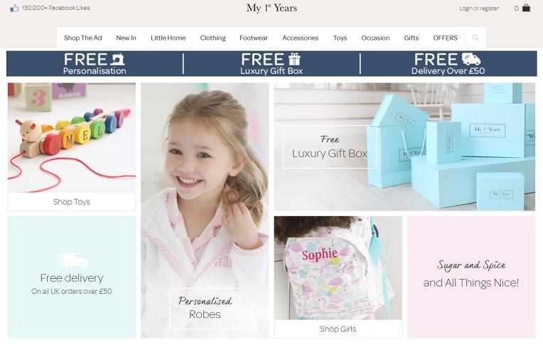 My 1st Years Homepage Screenshot
