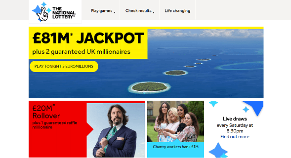 The National Lottery Discount Codes, Sales, Cashback Offers