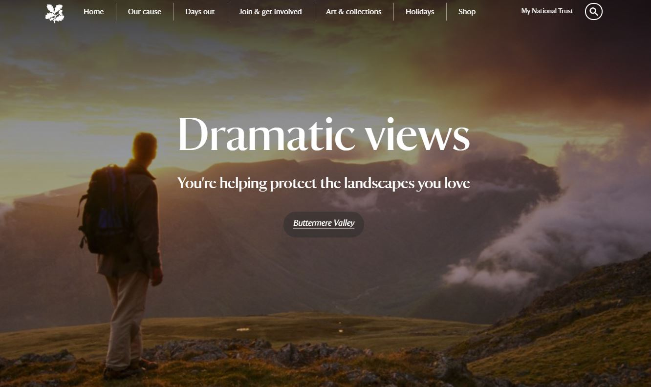 National Trust Homepage Screenshot
