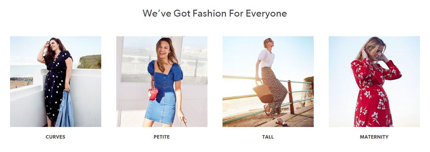 New Look Homepage