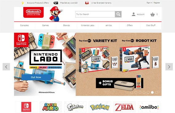 Nintendo Store Features
