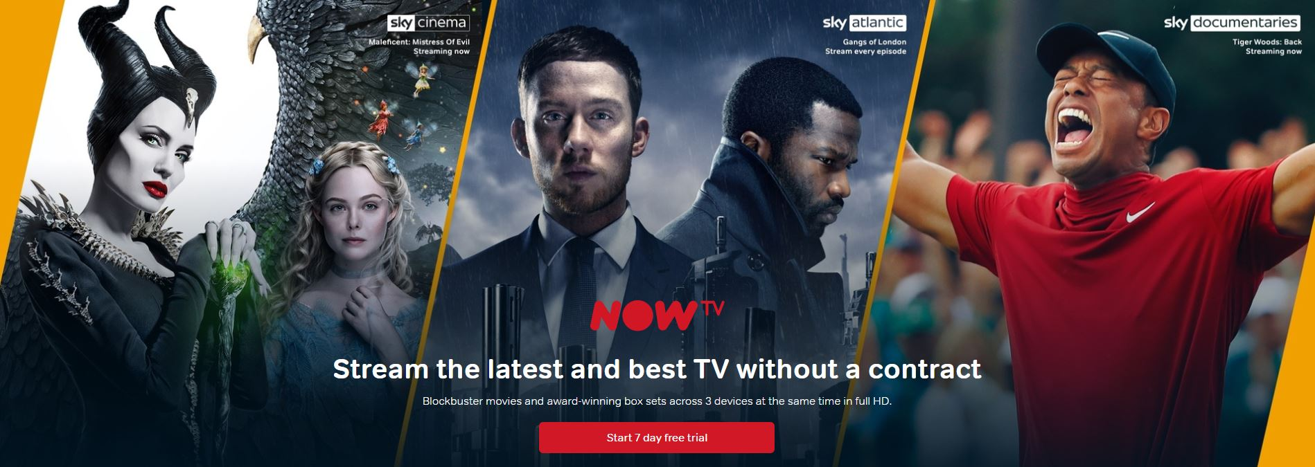 NOW TV Homepage