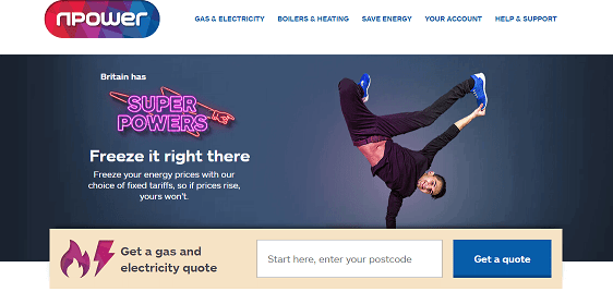 npower Homepage