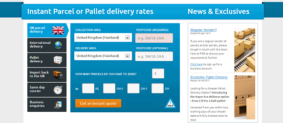 P4D Parcel Delivery Rate Calculator
