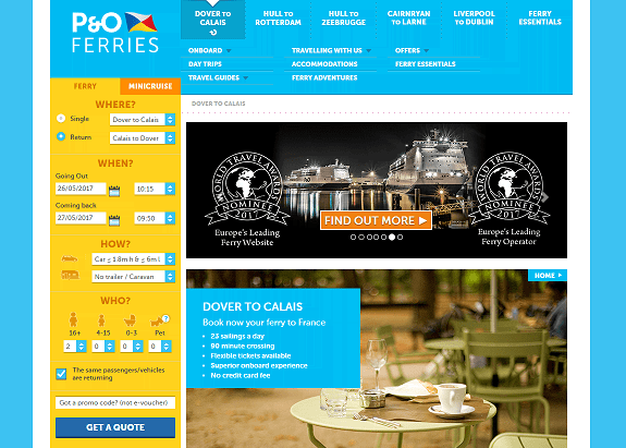 P&O Ferries Homepage