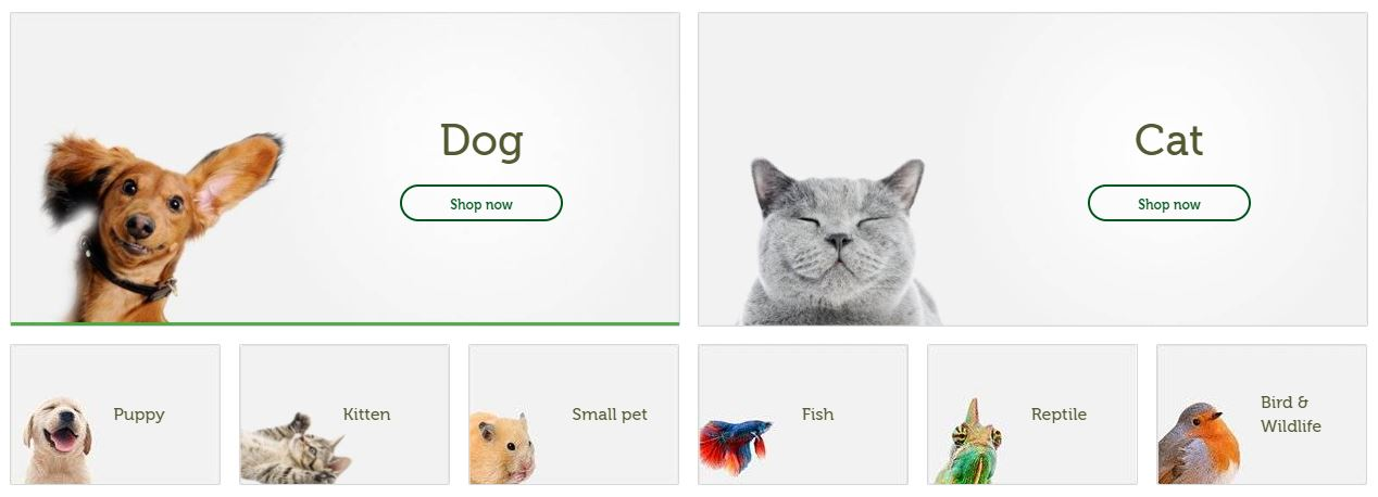 Pets At Home Homepage