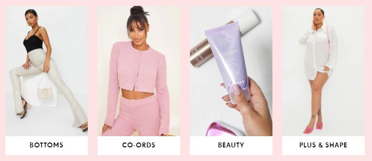 PrettyLittleThing Homepage