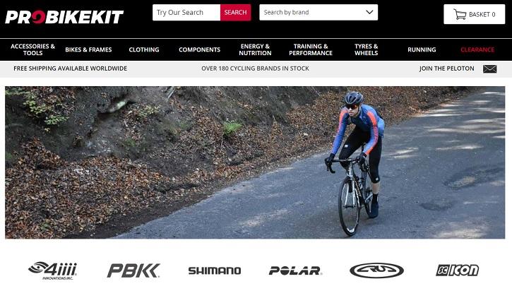 ProBikeKit Homepage Screenshot