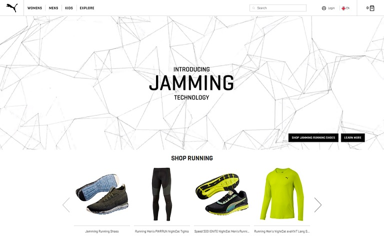 PUMA Homepage Screenshot