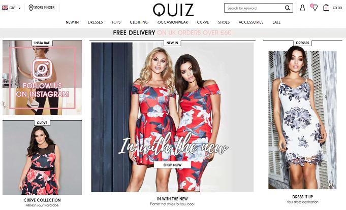 Quiz Homepage Screenshot