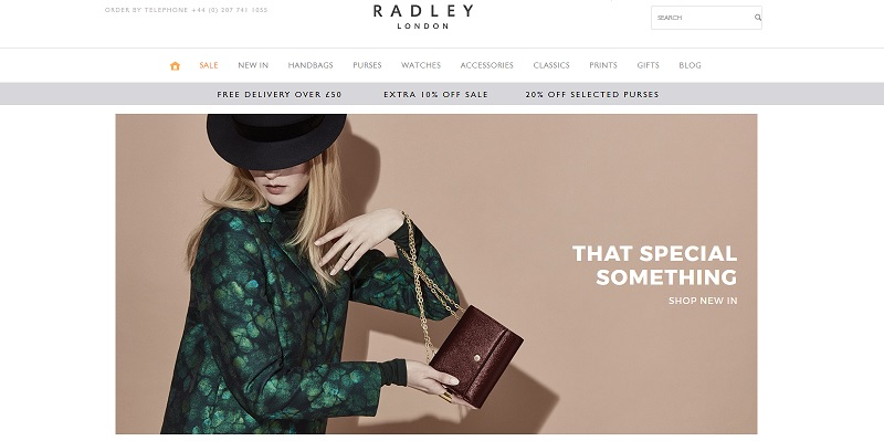 Radley Homepage Screenshot