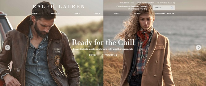 Ralph Lauren Homepage Screenshot