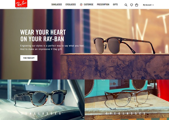 Ray-Ban Homepage Screenshot