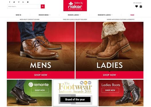 Rieker Homepage Screenshot