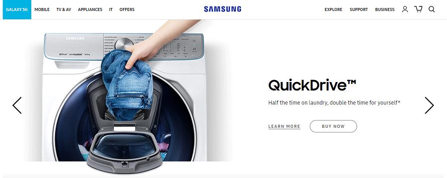 Samsung S8 Homepage Screenshot