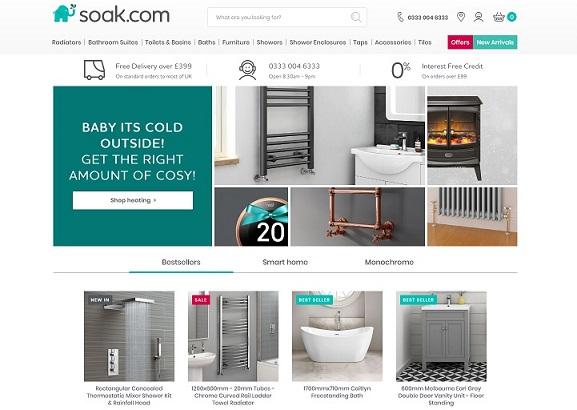 Soak Homepage Screenshot