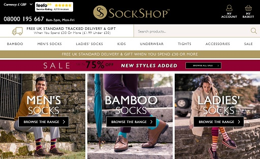 Sock Shop Homepage Screenshot