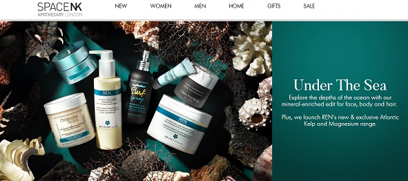 Space NK Apothecary Homepage Screenshot