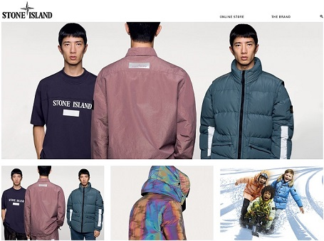 Stone Island Homepage Screenshot