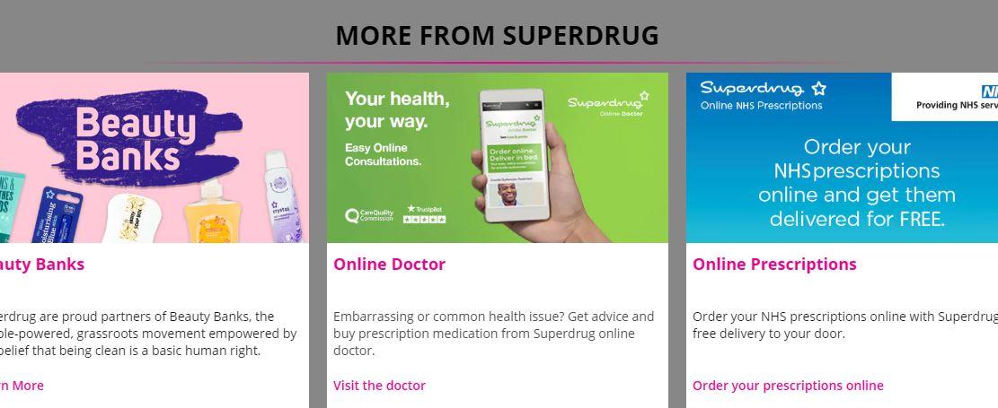 Superdrug Homepage