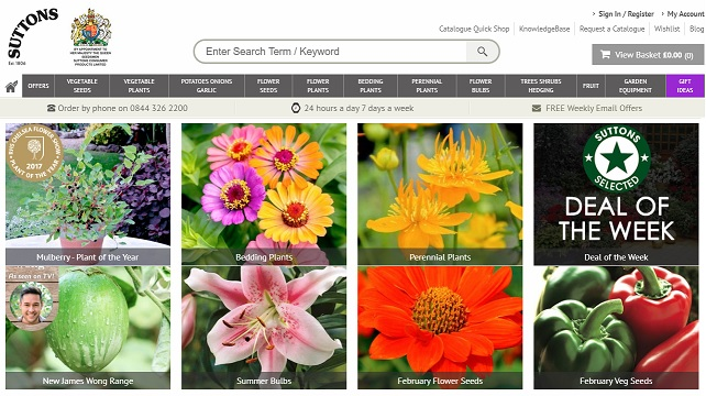 Suttons Seeds Homepage