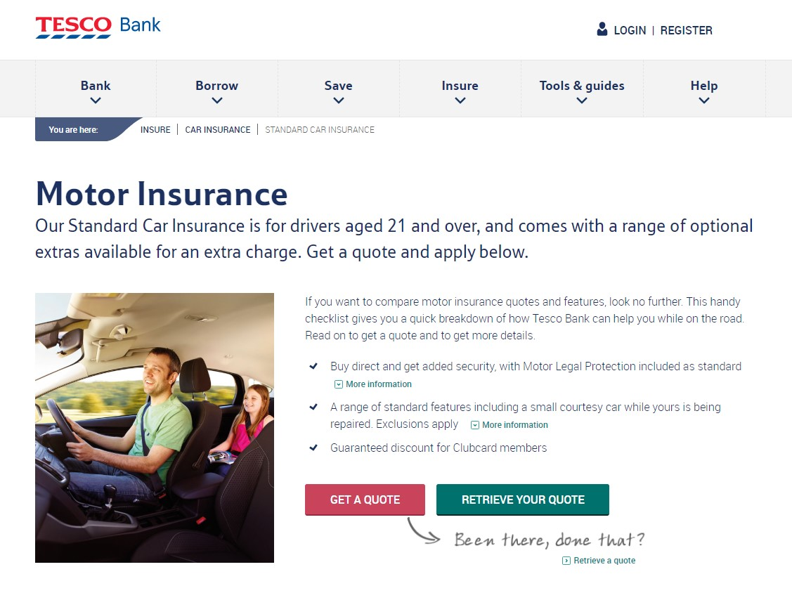 Tesco Bank Car Insurance Banner