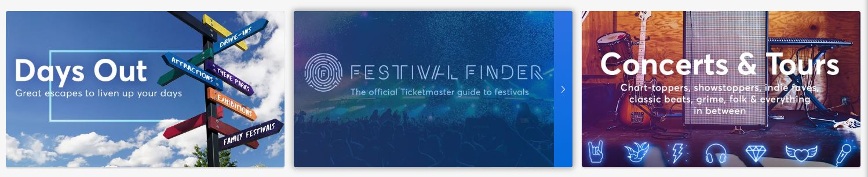 Ticketmaster Homepage