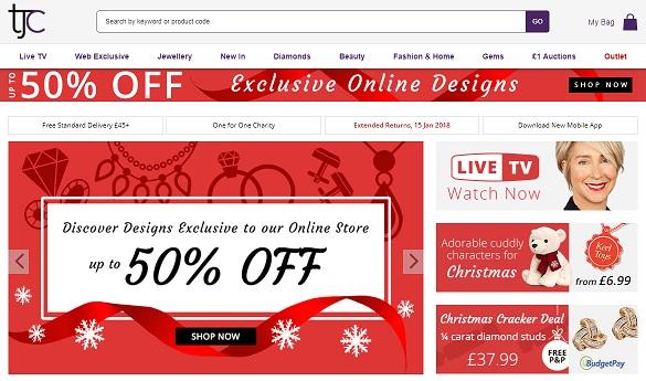 TJC Homepage Screenshot