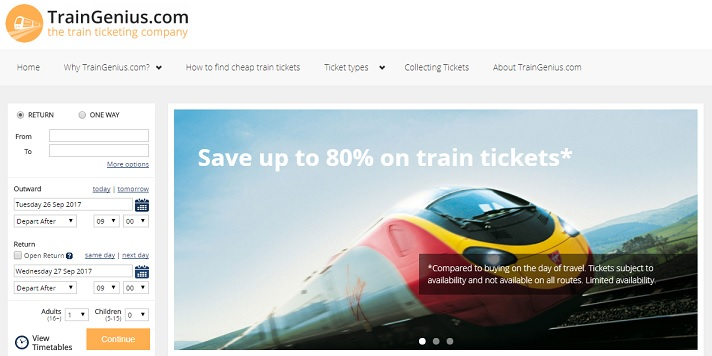 Train Genius Homepage
