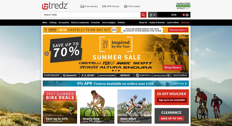 Tredz Homepage Screenshot