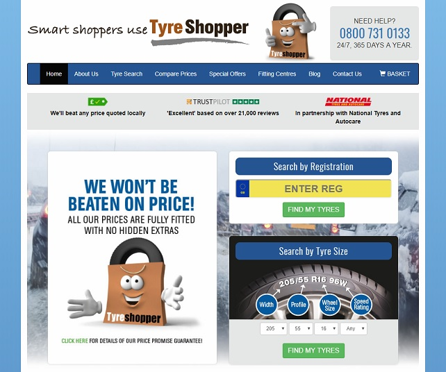 Tyre Shopper Homepage