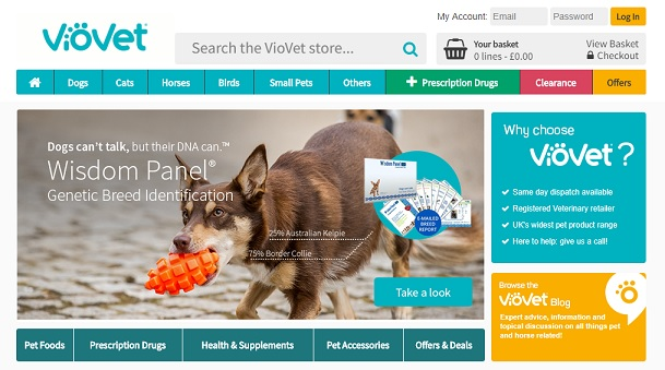 VioVet Homepage Screenshot