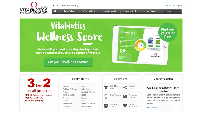 Vitabiotics Homepage Screenshot