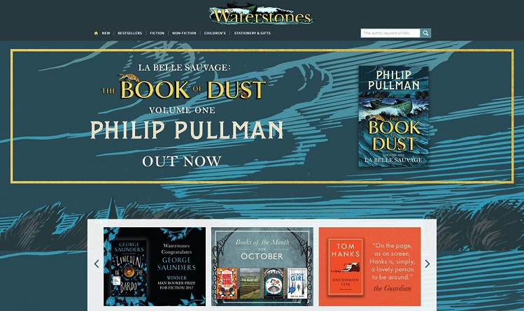Waterstones Homepage Screenshot